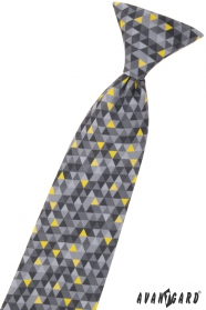 Fiú nyakkendő szürke mintával 44 cm