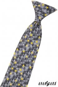Fiú nyakkendő szürke mintával 31 cm