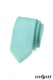 Vékony mentazöld nyakkendő