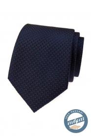 Kék selyem nyakkendő vöröszel