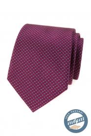 Selyem nyakkendő bordó kék mintával