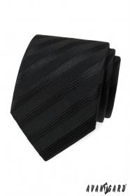 Fekete nyakkendő széles csíkokkal