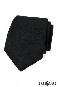 Fekete nyakkendő mintával