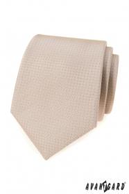 Bézs színű nyakkendő pöttyökkel