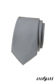 Szürke keskeny nyakkendő pöttyös