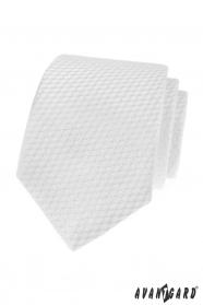 Fehér nyakkendő, csíkos struktúra