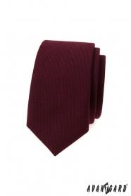 Keskeny nyakkendő bordó színben