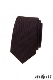 Sötétbarna luxus keskeny nyakkendő