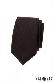 Sötétbarna keskeny nyakkendő