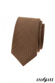 Fahéjas barna keskeny nyakkendő