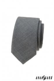 Szürke 5 cm keskeny nyakkendő