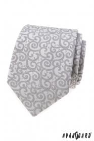Világosszürke nyakkendő mintával