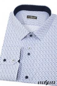 Fehér vékony ing, kék mintával
