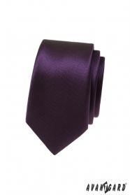 Sötétlila vékony nyakkendő