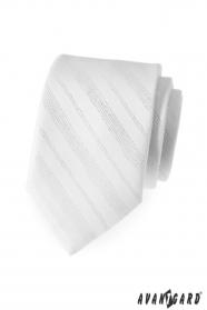 Férfi nyakkendő fehér fényes vonalak
