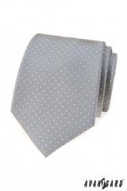 Szürke nyakkendő pöttyökkel
