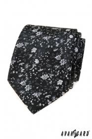 Fekete virágos nyakkendő