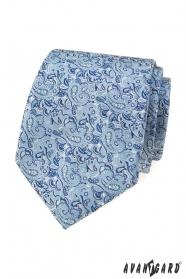 Kék nyakkendő elegáns paisley mintával