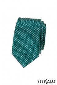 Zöld pöttyös keskeny nyakkendő
